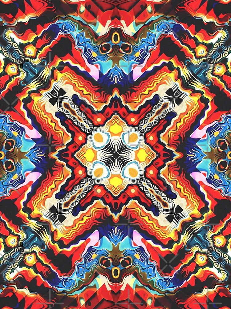 Colorful Tribal Motif by perkinsdesigns