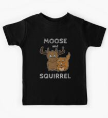 Moose and squirrel with text Kids T-Shirt