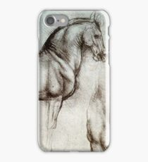 Horse sketches by Leonardo Da Vinci iPhone Case/Skin