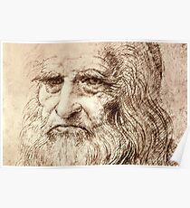 Leonardo Da Vinci Self portrait Poster