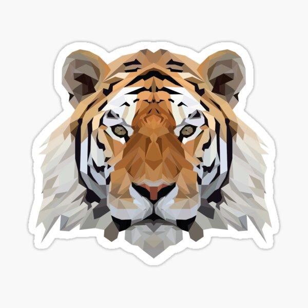 Crystalline Tiger Sticker