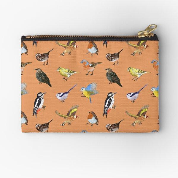 British Bird Pattern Zipper Pouch