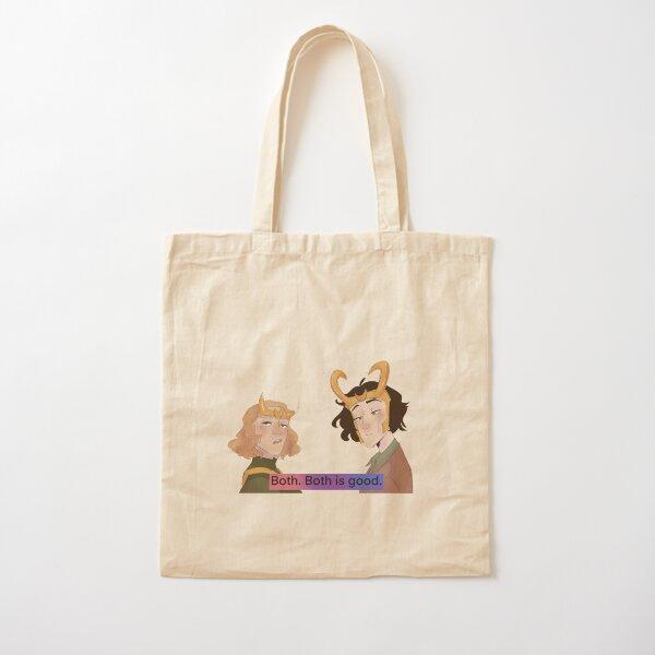 Bi pride Loki series poster Cotton Tote Bag