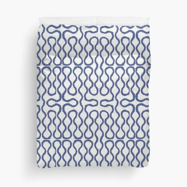 Blue Squiggle pattern Duvet Cover