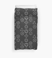 Dot Work Role Playing Dice - White  Duvet Cover