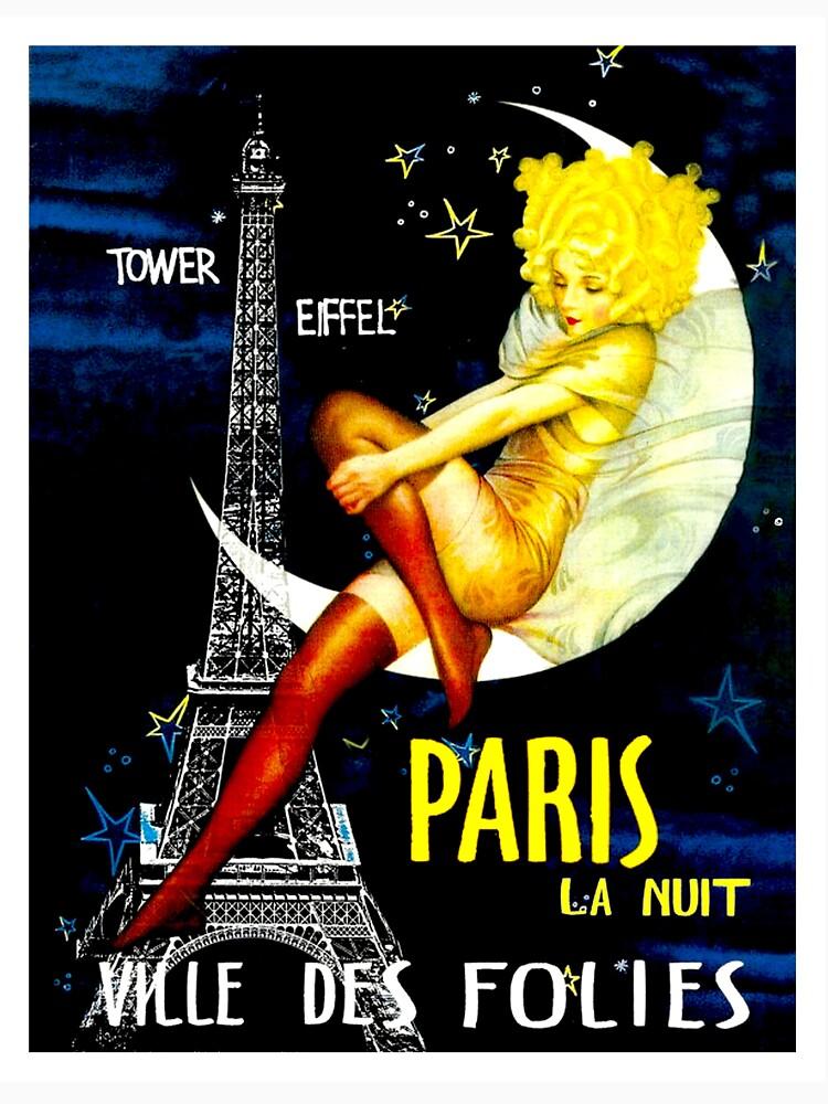 """""""PARIS"""" Vintage Follies Reisedruck von posterbobs"""