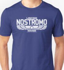 NOSTROMO ALIEN MOVIE STARSHIP (WHITE) T-Shirt