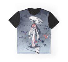 Kimono Birds Graphic T-Shirt