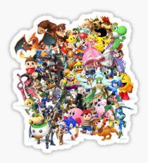 Super Smash Bros characters Sticker