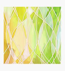 Lemon & Lime Love - abstract painting in yellow & green Photographic Print
