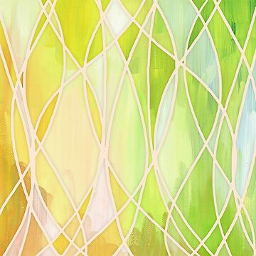 Lemon & Lime Love - abstract painting in yellow & green von micklyn