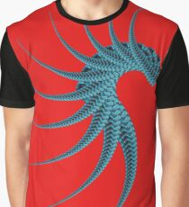 Abstract Black & Blue Fractal 573B Graphic T-Shirt