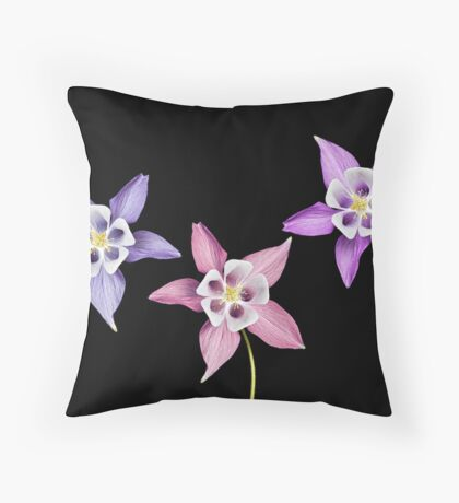 Aquilegia Flower Throw Pillow
