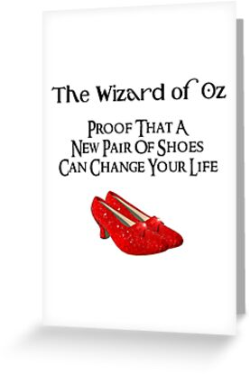 Wizard of oz new pair of shoes greeting cards by cafepretzel wizard of oz new pair of shoes by cafepretzel m4hsunfo