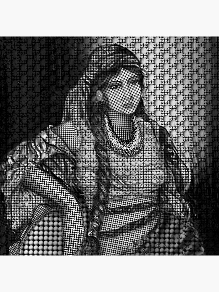 Arab Bedouin Woman in Black and White by FanArtAddict