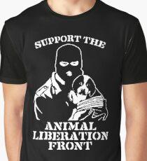 """Camiseta gráfica """"Apoya al Frente de Liberación Animal"""""""