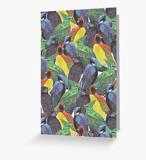 Birds Birds Birds Greeting Card