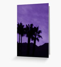 Purple sunset over palm springs Greeting Card