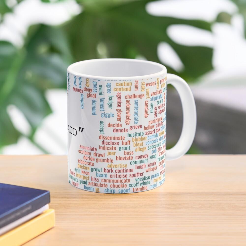 "300+ synonyms for ""said"" Mug"