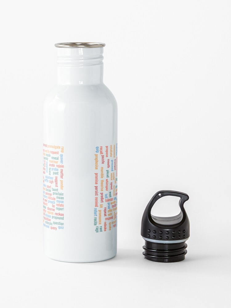 """Alternate view of 300+ synonyms for """"said"""" Water Bottle"""