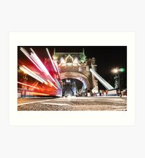 tower bridge on motion Art Print