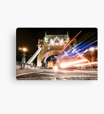 bus on tower bridge Canvas Print