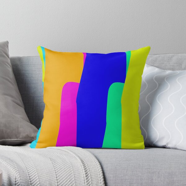 Dripping Color Stripes Throw Pillow
