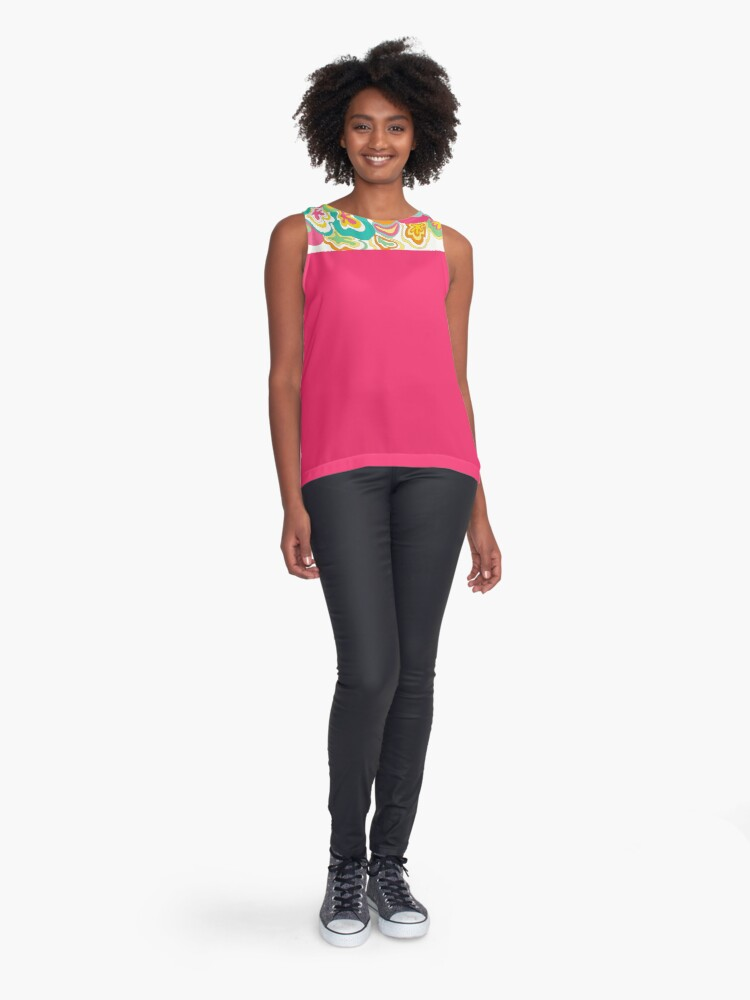 Alternate view of Floral Explosion  Sleeveless Top