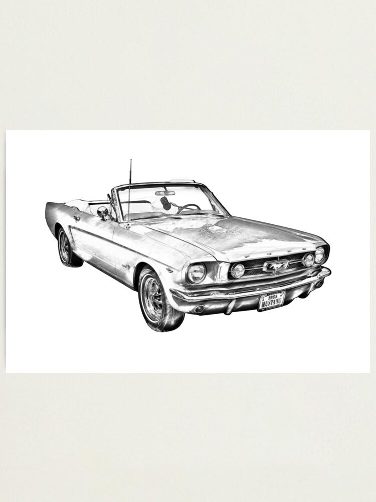 Pencil 1967 Mustang Drawing