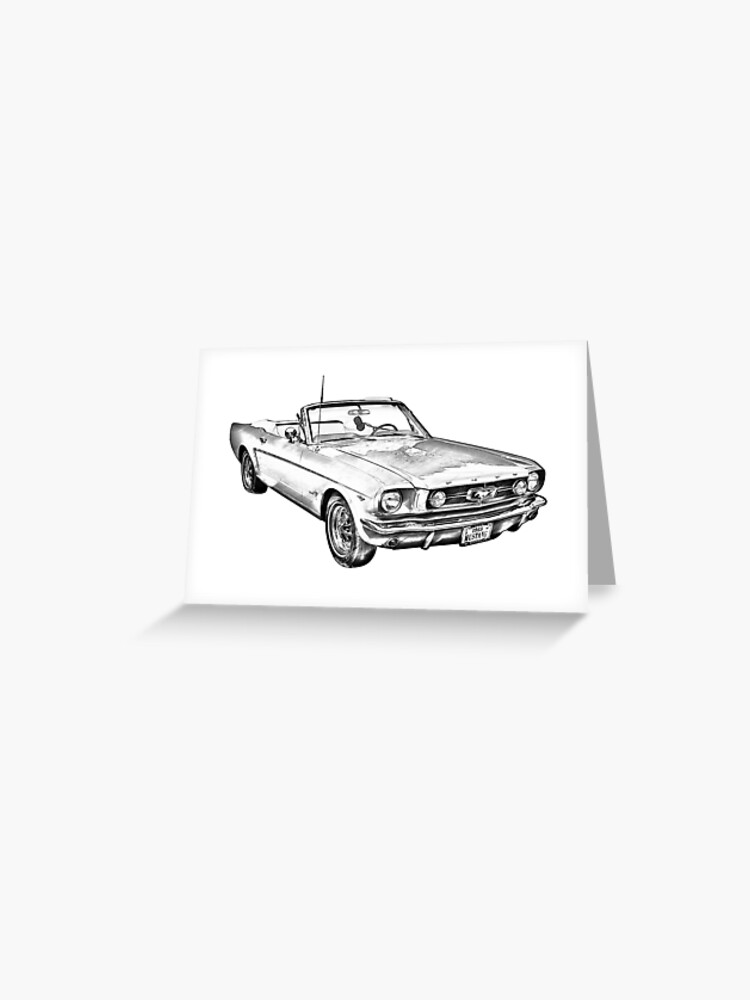 c5e19e6e 1965 Red Ford Mustang Convertible Drawing