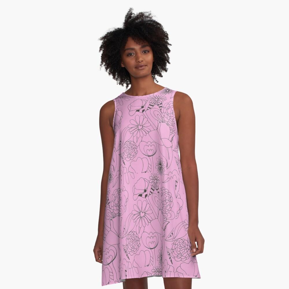 Floral Wonderland  A-Line Dress