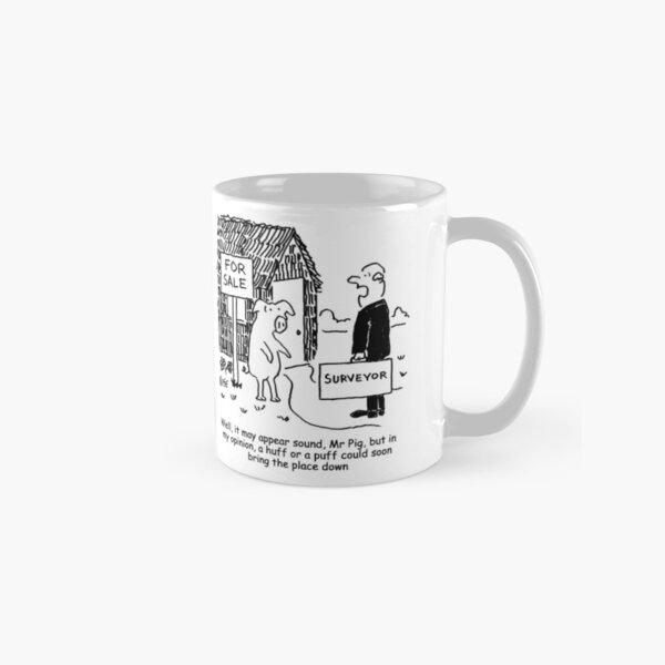 Mr Pig has his house assessed by a surveyor Classic Mug