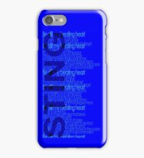 be still my beating heart iPhone Case/Skin