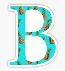 Beta Pineapple Letter Sticker