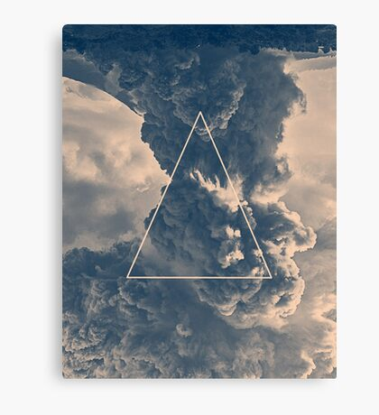Inverted Cloud Triangle Canvas Print