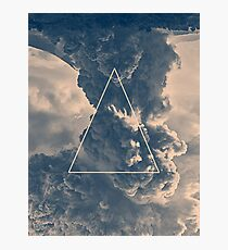 Inverted Cloud Triangle Photographic Print