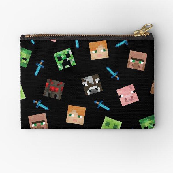 Minecraft Face pattern Zipper Pouch