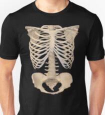 halloween Gothic Anatomy Rib Cage bones human skeleton  Unisex T-Shirt