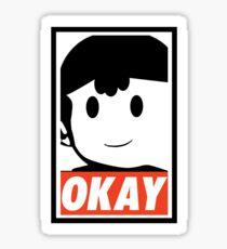 """Ness OKAY (""""OBEY"""") Sticker"""