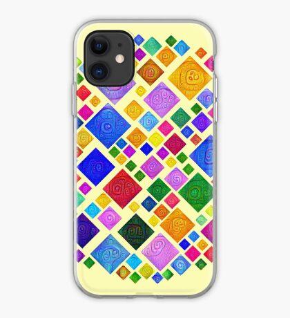 #DeepDream Color Squares Square Visual Areas 5x5K v1448810610 Transparent background iPhone Case