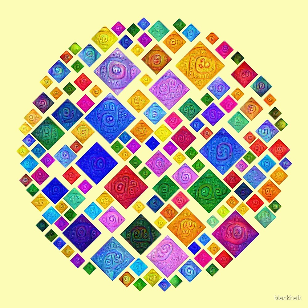#DeepDream Color Squares Square Visual Areas 5x5K v1448810610 Transparent background by blackhalt