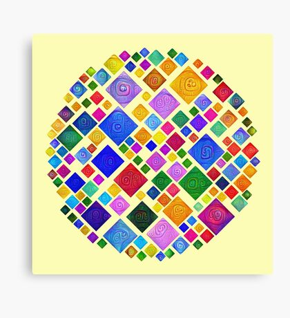 #DeepDream Color Squares Square Visual Areas 5x5K v1448810610 Transparent background Canvas Print