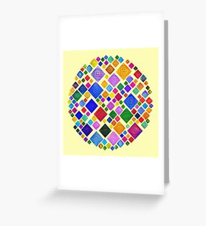 #DeepDream Color Squares Square Visual Areas 5x5K v1448810610 Transparent background Greeting Card