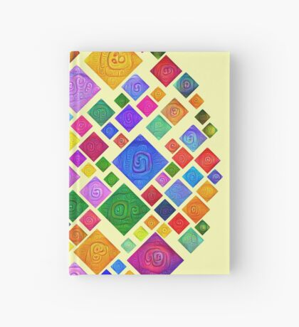 #DeepDream Color Squares Square Visual Areas 5x5K v1448810610 Transparent background Hardcover Journal