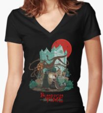 Blood Echo Time Women's Fitted V-Neck T-Shirt