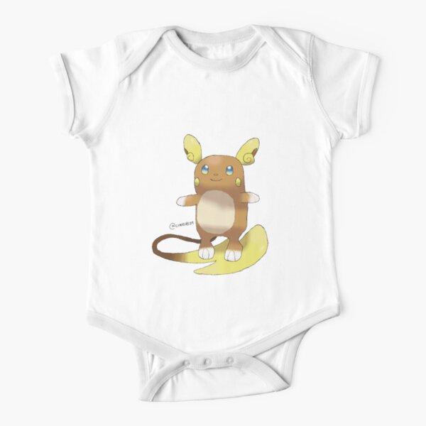Alolan Raichu Short Sleeve Baby One-Piece