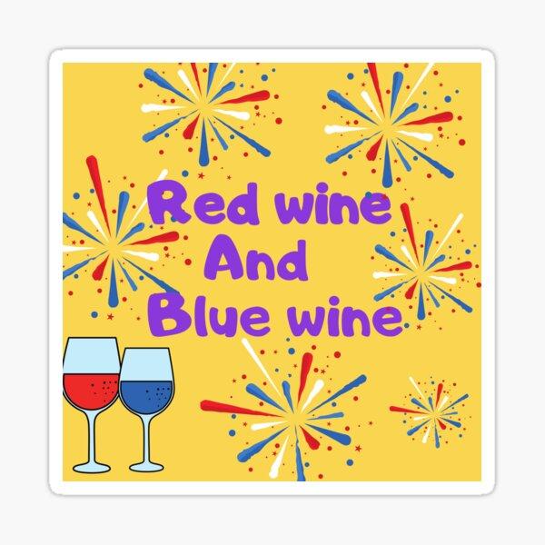 Rotwein Blauwein Sticker