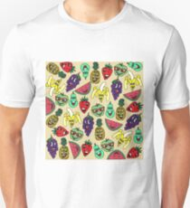 Funny Cute Fruit Illustrations Pattern Unisex T-Shirt