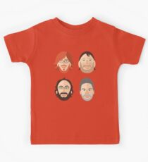 Trey, Fish, Mike, Page as Vector Characters Kids Clothes