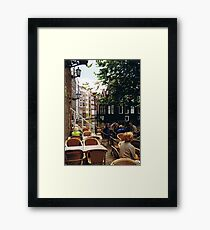 water cafe Framed Print
